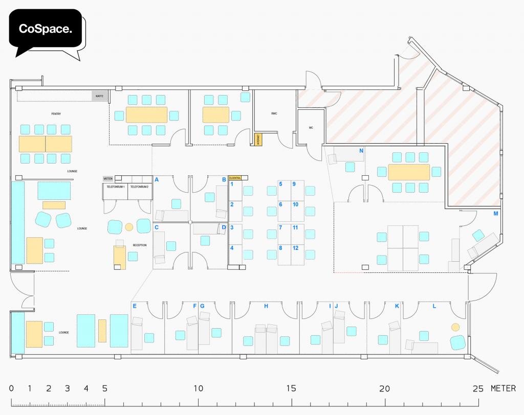 CoSpace Borlänge - Planlösning